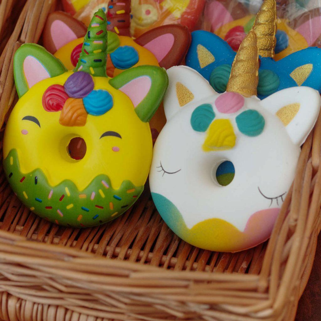 Rainbow Unicorn Donut Toys at the Kilted Donut