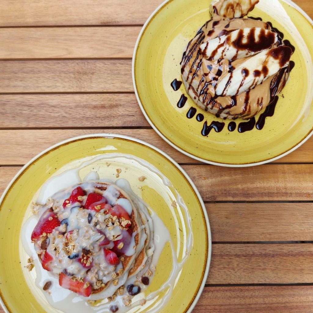 Vegan pancakes at Stack & Still, Edinburgh