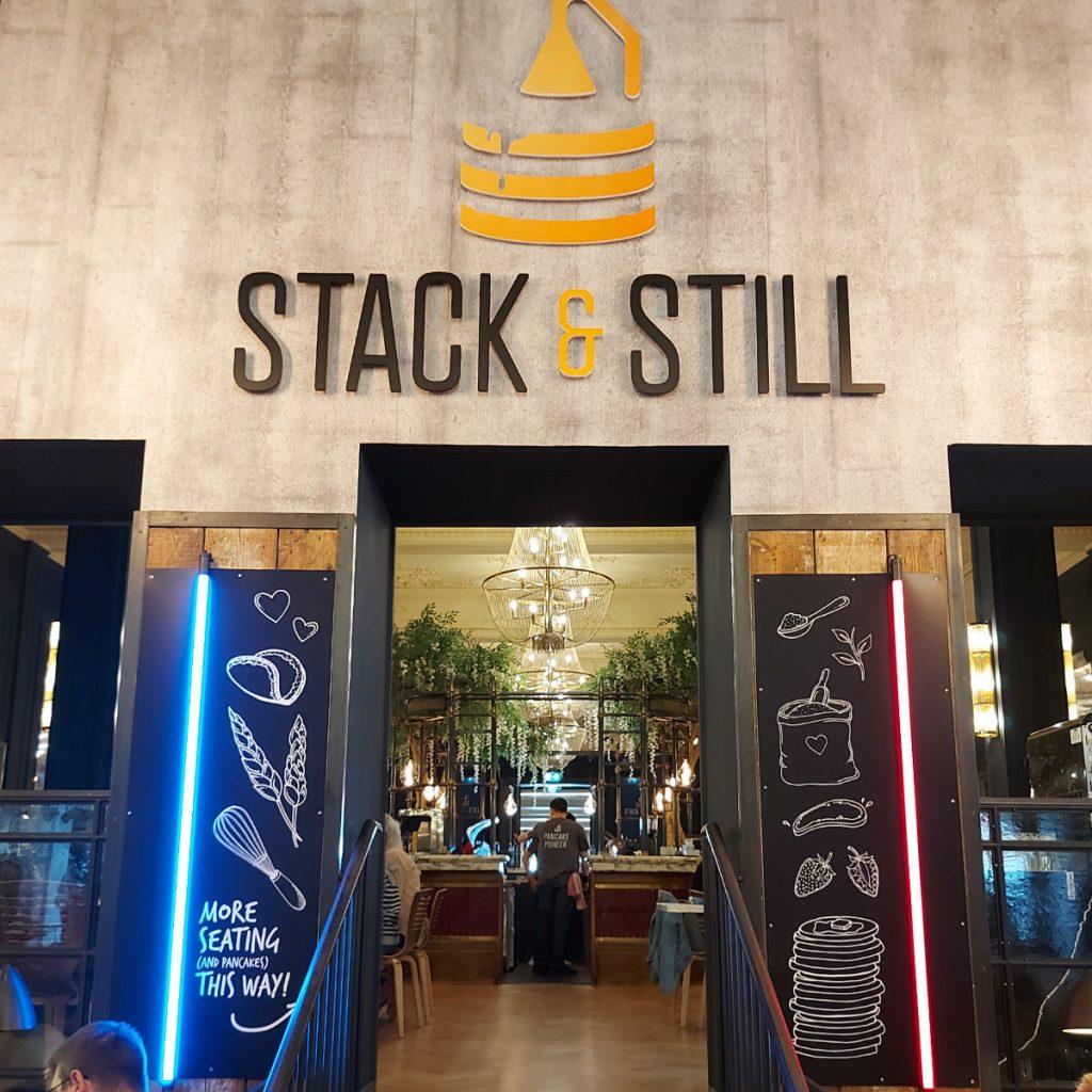 Stack & Still sign inside Stack & Still, Edinburgh