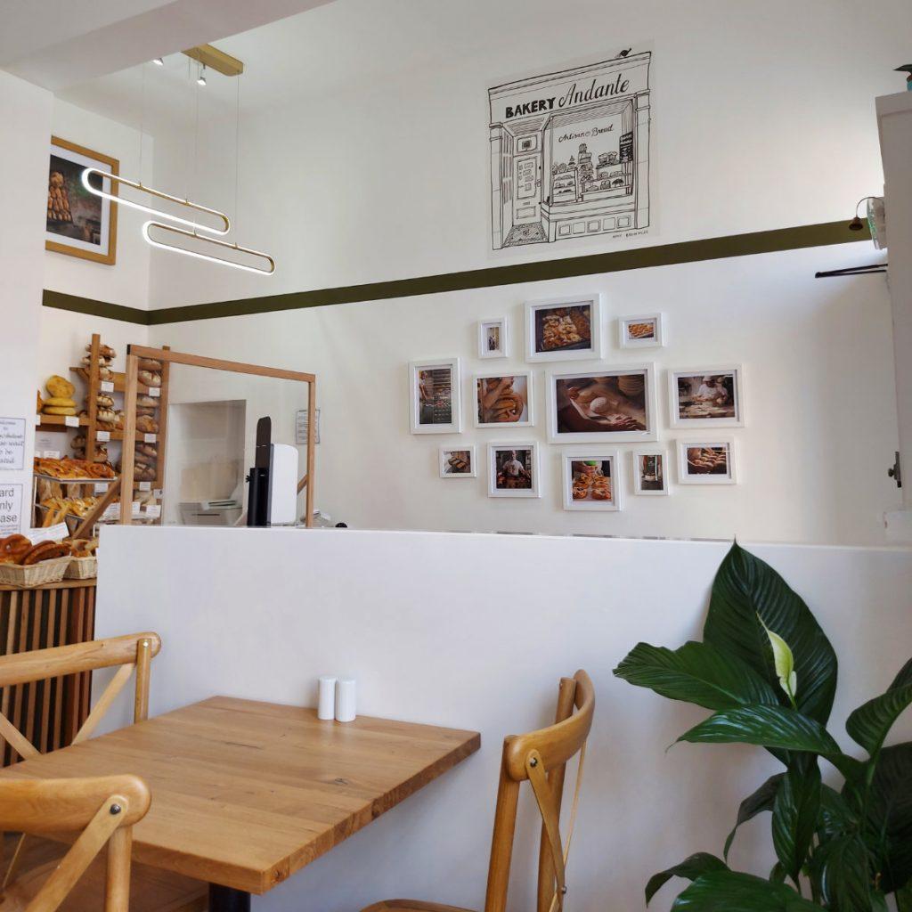 Inside Bakery Andante, Edinburgh