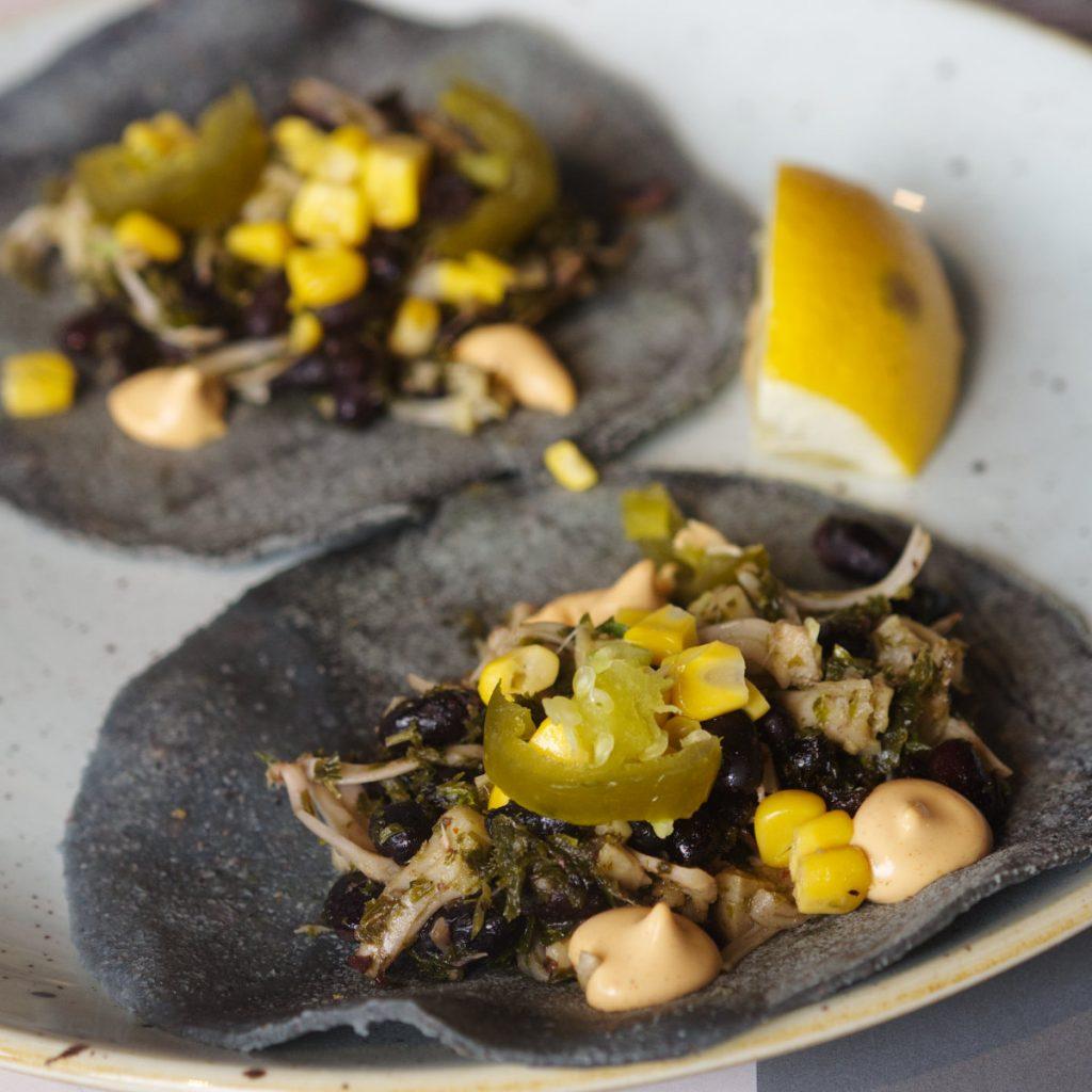 Vegan tacos at Erpingham House